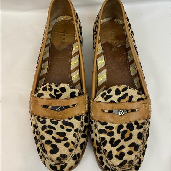 Sperry leopard hayden penny loafer top sider